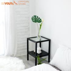 Kệ đầu giường gỗ đa năng mặt kính cường lực BEYOURs Glass Shelf nội thất kiểu hàn lắp ráp