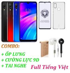 Xiaomi Redmi 7 Ram 3GB 32GB (Full Tiếng Việt) + Ốp lưng + Cường lực 9D Full màn + Tai nghe – Hàng nhập khẩu