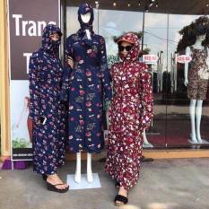 Áo váy chống nắng toàn thân 2 lớp chất lanh Nhật cho mùa hè 2019