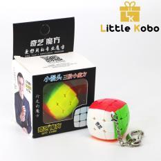 Móc Khóa Rubik 3×3 Stickerless Qiyi Cube Rubik 3 Tầng