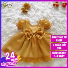 [LOẠI 1] Váy đầm công chúa cho bé màu vàng kết cườm – Hàng thiết kế chất liệu siêu cao cấp, sang trọng thích hợp đi chơi đi tiệc, quà tặng | BATORY Store Cửa hàng quần áo trẻ em