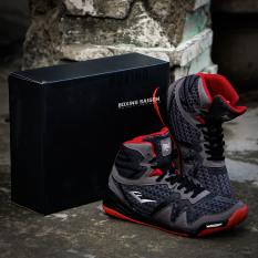 Giày boxing Everlast Michelin PIVT Low – Xám/Đỏ