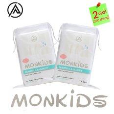 COMBO 2 gói bông tẩy trang 100% cotton 3 lớp mềm mịn thấm hút cực tốt 200 miếng BTT02AZ – Thương Hiệu MONKIDS