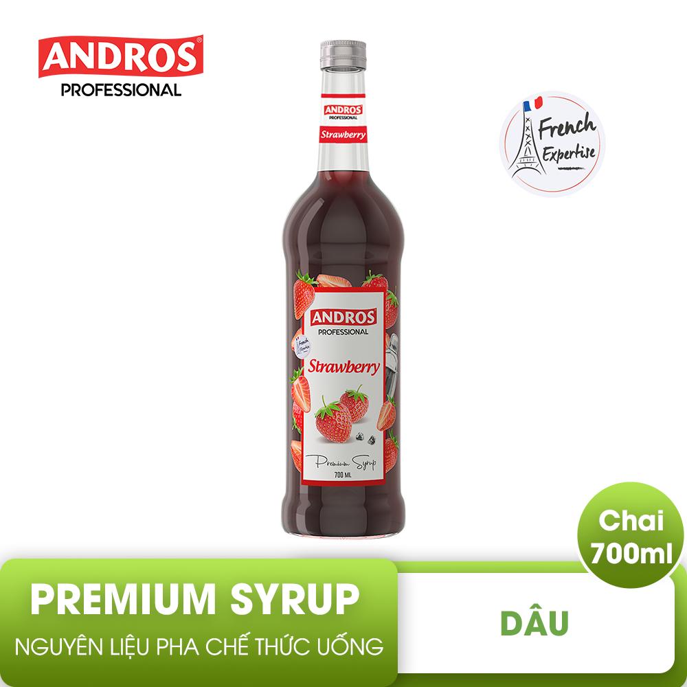 ANDROS – SYRUP Dâu – Nguyên liệu pha chế – 700 ml