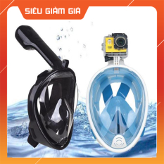 Mặt nạ lặn ống thở có van 2 chiều, chống ngập nước, tự thoát nước – k1005