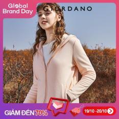 Giordano Women Jackets Polar Fleece Plain Hooded Jackets Zip Front Slant Pockets Long Sleeves Jackets Free Shipping 13370820