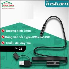 Camera nội soi kèm phụ kiện móc nhặt đồ Inskam Y102 Type-C/Micro/USB