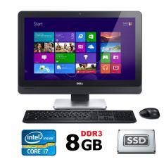 Máy tính All-in-One Dell Optiplex 9010 intel Core i7-3770, Ram 8GB, SSD 256GB, Màn 23″ Full HD kèm phím chuột không dây, tích hợp webcam và loa, máy tính liền khối,cây máy tính liền màn