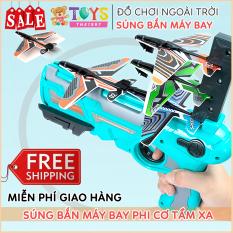 Đồ chơi bắn máy bay cho trẻ em, đồ chơi phóng máy bay uốn lượn ngoài trời tăng khả năng vận động