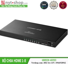 Bộ Chia 1 HDMI Ra 8 HDMI Chính Hãng Ugreen 40203 Cao Cấp