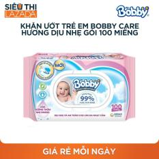 Khăn ướt trẻ em Bobby Care hương dịu nhẹ gói 100 miếng