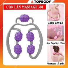 Con Lăn Massage 3D Yoga 360 , Con Lăn Mát Xa – Giảm đau và massage toàn thân Topbody