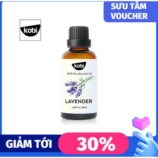 Tinh dầu oải hương Kobi lavender essential oil nguyên chất, dùng với máy xông tinh dầu, giúp thơm phòng, ngủ ngon, giảm căng thẳng mệt mỏi