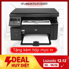 Máy in Laser đen trắng Đa chức năng HP Pro M1132MFP (in, scan, copy, photo) tặng hộp mực , dây nguồn , dây USB