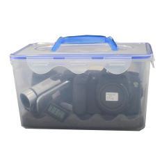 Combo Hộp chống ẩm chuyên dụng cho máy ảnh, máy quay phim(hộp,ẩm kế,100gr hạt hút ẩm), 7,7 Lít