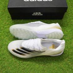 Giày Bóng Đá X Ghosted .1 TF trắng vạch đen Mẫu mới 2020 – Tặng kèm tất chống trơn