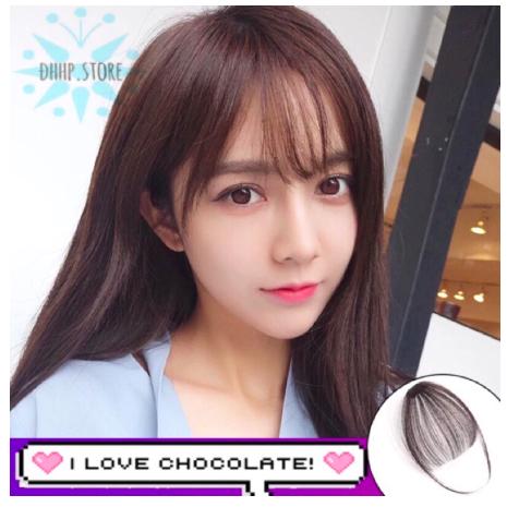 Tóc giả mái thưa có mai cực trẻ trung, mẫu Hot trend mới nhất – tóc mái giả mái mưa Hàn Quốc