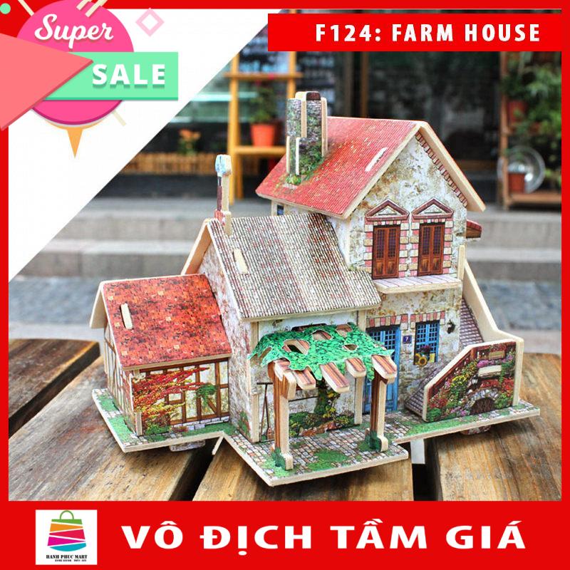 [Lấy mã giảm thêm 30%]Mô hình nhà gỗ DIY – 3D Jigsaw Puzzle Wooden Toys HPMB6133