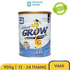 Sữa bột Abbott Grow 3 900g cho trẻ 12 – 24 tháng cung cấp đầy đủ dưỡng chất bổ sung canxi giúp răng chắc khỏe và tăng chiều cao vượt trội – Giới hạn 5 sản phẩm/khách hàng