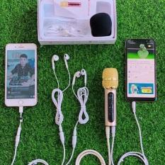 Mic c11 nâng cấp cải tiến dây livestream dài 2 mét, tặng thêm tai nghe để hát song ca- bảo hành 6 tháng đổi mới