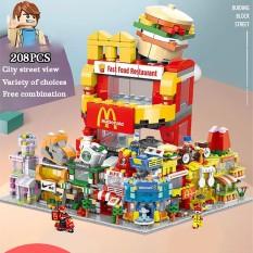 Bộ Đồ Chơi Lego Lắp Ráp Mô Hình cửa hàng đường phố