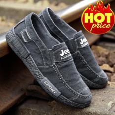 Giày Lười Nam Vải Jean