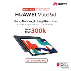 TRẢ GÓP 0% | Máy tính bảng HUAWEI MatePad (4GB/64GB) | Màn hình 2K FullView | Hiệu suất mạnh mẽ | Âm thanh vòm sống động