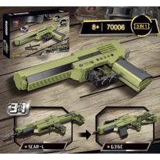 [Hàng Chính Hãng] Bộ Đồ Chơi Xếp Hình RAEL 70006 Lắp Ráp Kiểu LEGO PUBG 3in1 Scar, G36c, Desert Eagle 300+ Mảnh Ghép