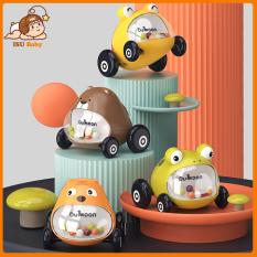 Set 2 đồ chơi ô tô hình thú dễ thương Dumoon có tiếng nghe vui tai cho bé từ 18 tháng trở lên