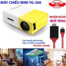 [TẶNG NGAY] Cáp chuyển tín hiệu TypeC ra HDMI khi mua Máy chiếu Mini cho điện thoại YG-300 hỗ trợ độ phân giải lên đến 1920 x 1080 pixel