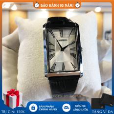 Đồng hồ nam Romanson TL0390MWWH full hộp, thẻ bảo hành hãng, chống nước, dây da