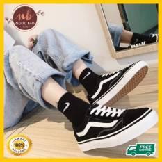 (Video thật) Giày thể thao nam nữ sneaker NgocBao Store, giày bata đen sneaker nam nữ