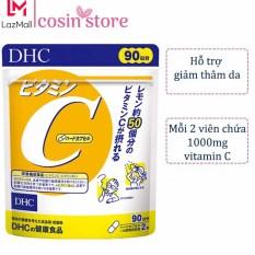 Viên uống DHC Vitamin C Hard Capsule túi 180 viên 90 ngày của Nhật Bản dùng tăng sức đề kháng, hỗ trợ sáng da