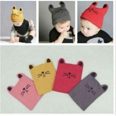 Mũ len cho bé mũ len hình mèo đáng yêu cho bé chất liệu len gọn nhẹ giúp giữ ấm cả đầu và tai cho bé