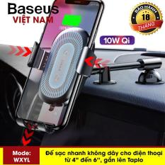 Đế sạc nhanh không dây trên ô tô hãng Baseus công xuâ-t 10W thông minh kiêm chuâ-n Qi cho iphone X, XS Max , iphone 8,Samsung S9, Note8, Note10 – Phân phối bởi Baseus Global