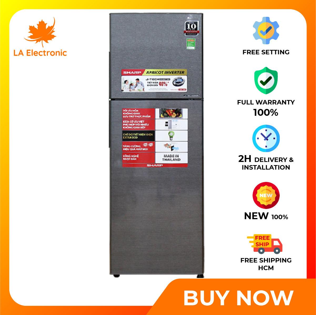 Trả Góp 0% – Tủ Lạnh Sharp SJ-X281E-DS 271 lít Inverter – Miễn phí vận chuyển HCM