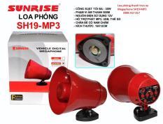 Loa phóng thanh treo xe SH19-MP3 có thu tiếng