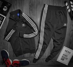 Bộ quần áo thể thao nam Adi.das, set quần áo thể thao nam màu đen, xanh than, quần áo thể thao thu đông VNXX vải cực đẹp – Hellen Store