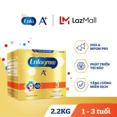 [FREESHIP] Sữa bột Enfagrow 3 cho trẻ từ 1-3 tuổi (2.2kg – hộp 4 túi thiếc 550g)