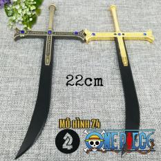 Mô hình Hắc kiếm Yoru 22cm trong One Piece đảo hải tặc Mihawk Thép đặc nguyên khối onepiece mihak