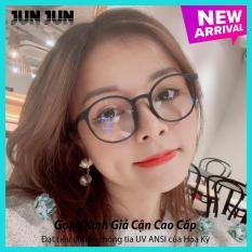Tặng kèm túi đựng + Khăn lau – Gọng kính giả cận nam nữ cao cấp Hàn Quốc ViVo JJTT- Kính cận tròn không độ mẫu đẹp lạ – Bảo hành 12 tháng 1 đổi 1
