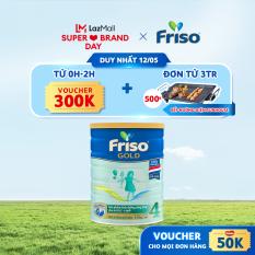 [Ưu đãi độc quyền duy nhất 12.05] Sữa Bột Friso Gold 4 lon thiếc 1.4kg – cho trẻ từ 2-6 tuổi