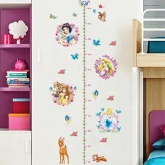 Decal trang trí thước đo chiều cao hình công chúa cho bé