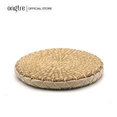 Đệm cói ngồi bệt vuông/tròn (Hàng cao cấp) có mút xốp đàn hồi (40cm) | ongtre® (Vietnam)