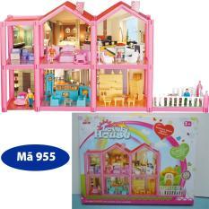 Mô Hình Nhà Búp Bê Cỡ Lớn Cho Các Bé Chơi Đồ Chơi Barbie