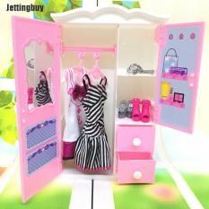 Tủ quần áo đồ chơi Jettingbuy đựng đồ nội thất phòng ngủ kiểu công chúa cho bé gái, kích thước 13*5*21 cm, có thể dùng làm quà tặng cho bé – INTL