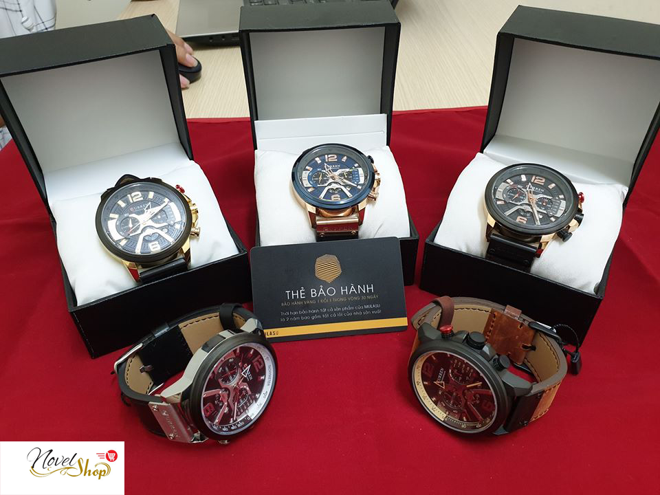 Đồng hồ nam CURREN chính hãng 100% dây da 24CM cao cấp – Hàng Chính Hãng