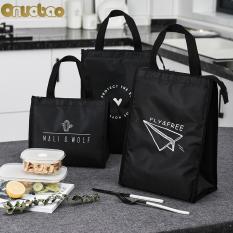 【Onuobao】 túi đựng cơm túi đựng hộp cơm túi giữ nhiệt giỏ đựng cơm túi đựng cơm giữ nhiệt Cách Nhiệt Hộp Cơm Mềm Mát Túi Chống Nước Nhiệt Dã Ngoại Công Việc Học Bento