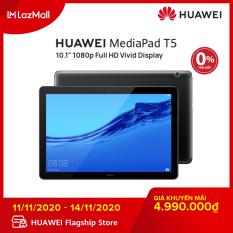 Máy tính bảng Huawei Mediapad T5 (3GB/32GB) – Chip Kirin 659 – Màn hình LCD 10.1 inch độ phân giải Full HD – Công nghệ âm thanh Dual stereo speakers-Dung lượng pin 5100 mAh – Hàng phân phối chính hãng