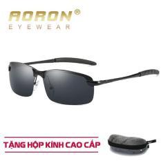 [Tặng kèm hộp fullbox] Mắt kính thời trang nam cao cấp AORON, Gọng kính gấp nhỏ gọn, tiện dụng – Tròng kính chống tia UV